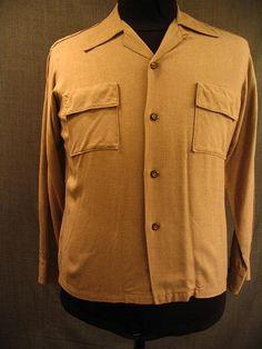 Shirt Men's 1930's light brown