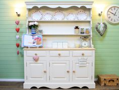 Stunning Solid Pine Farmhouse Welsh Dresser *shabby Chic**farrow & Ball