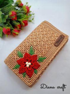 Crochet Handbags, Crochet Purses, Embroidery Stitches Tutorial, Cross Stitch Embroidery, Crochet Prayer Shawls, Crochet Wallet, Crochet Purse Patterns, Diy Purse, Summer Patterns