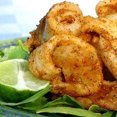 Easy Grilled Salt & Pepper Squid/Calamari.   Cooks up in just minutes!