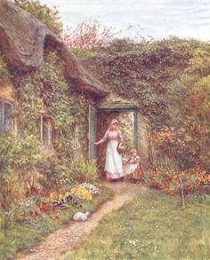 """Helen Allingham, """"The Dairy Door, Farringford"""""""
