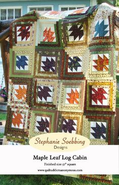 Downloadable quilt pattern - Maple Leaf Log Cabin