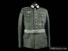 A German Army Officers Tunic German Uniforms, German Army, Hugo Boss, Military Jacket, Tunic, War, Jackets, Fashion, Down Jackets