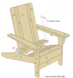 Folding Adirondack Chair Plans - Woodwork City