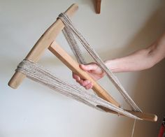 A niddy-noddy is a tool used to make skeins (basically just big coils of yarn).