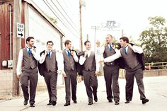 posing the groomsmen, posing the bridal party, wedding photography, the strut, guys