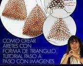 Como Crear Aretes con Forma de Triángulo - Tutorial Joyeria Crochet