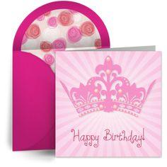 """Birthday Princess"" digital greeting card from Punchbowl"