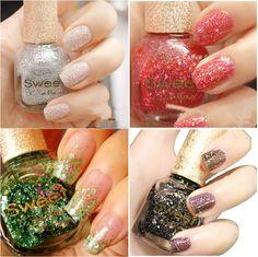 1pc $ 3,99 Mágico multicolorida Shell Glitter Nail Art Verniz polonês doce 4 cores - BornPrettyStore.com