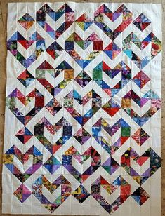 This is machine sewn and neatly pressed quilt top. It is not a finished quilt. You have to add batting and backing and quilt this piece to make it gorgeous. To make quilt bigger- just add any color border.   eBay! by corinne