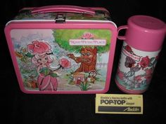Holy 80's!  Unused Vintage 1983 Rose Petal Place Lunch Box & Thermos w/ Paperwork , Pink