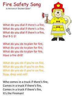 fire safety song- F is for Fire Week 12 Fire Safety Crafts, Fire Safety Week, Preschool Fire Safety, Fire Safety For Kids, Preschool Songs, Preschool Lessons, Preschool Curriculum, Homeschooling, Fire Prevention Week