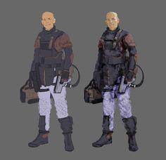 "ArtStation - Aliens ""Company Android"", Tyler Bartley"