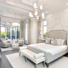 Idee für großes Schlafzimmer Idea for large bedroom Dream Master Bedroom, Master Bedroom Design, Home Decor Bedroom, Bedroom Designs, Bedroom Furniture, Furniture Ideas, Bedroom Ideas, Home Interior, Interior Design