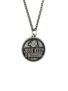 Disney Finding Nemo Keep Swimming Necklace | Hot Topic- I bought this, but then as soon as I took it off the card it broke.
