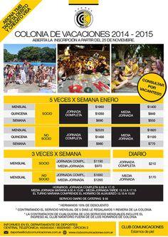 COLONIA DE VACACIONES 2014 - 2015, CONSULTAR POR VACANTES!!