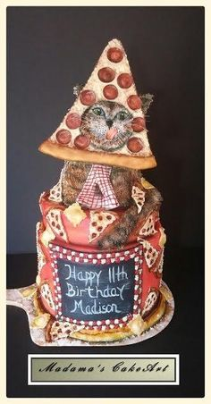 Cat's Pizzeria! - Cake by Madama's Cake Art