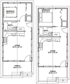 House plans on pinterest garage plans house plans and for 16x32 cabin floor plans