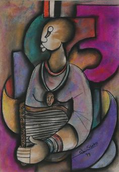 """Colors of Music"" by Peter Sibeko African Artwork, South African Art, Contemporary African Art, Painter Artist, Art Pieces, Fine Art, Abstract, Painters, Music"