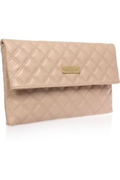 MARC JACOBS  Baroque Large Eugenie quilted leather clutch
