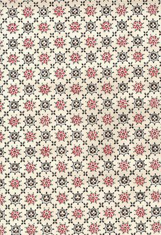 I really like the color combinations of this Mid century vintage wallpaper