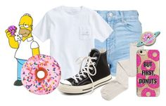 """""""Homer Simpson"""" by bandsvansandsodacans ❤ liked on Polyvore featuring Topshop, Vineyard Vines, Converse, Intimately Free People, Agent 18 and Iscream"""