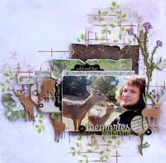 Dusty Attic DT - Sept Mood Board - Sketch - chipboard - stencils - 49 & Market Vintage Artistry - Deer Layout