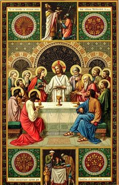 The institution of the Eucharist. Do this in memory of me.