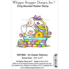 whipper snapper stamps | PREORDER An Easter Delivery Cling Mounted Stamp from Whipper Snapper ...