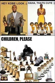 Funny NBA meme including LeBron James, Kobe Bryant, and Michael Jordan! Basketball Legends, Love And Basketball, Basketball Players, Nba Players, Basketball Stuff, Jordan Basketball, Basketball Trophies, Basketball Awards, Soccer