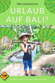 Wie viel Geld musst du eigentlich für einen Urlaub auf Bali kalkulieren? Und was kostet wie viel auf Bali? Diese Fragen beantworten wir in unserem Beitrag. Klicke hierzu einfach aufs Bild.