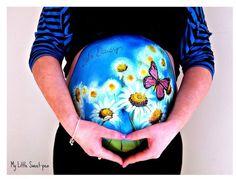 Elle réalise de véritables œuvres d'art sur les ventres de femmes enceintes