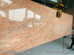 Shiva Gold Granite is the primary choice for those who are searching for the granite floor tiles to add glamour to their living space. The granite has a beautiful beige or yellow background. Pitting, fissures, and veining in the granite create unique designs. One can easily upgrade the indoor or outdoor spaces with this awestruck granite. It offers resistance to food stains and beverages spill and hence offers long-lasting shine and luster for many years. Contact us to get the best price !!! Granite Flooring, Granite Slab, Black Granite, Marble Price, Italian Marble, Yellow Background, Pure White, Shiva, Luster