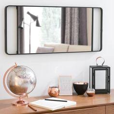 Miroir en métal noir H 64 cm NELLIGAN Maisons du monde