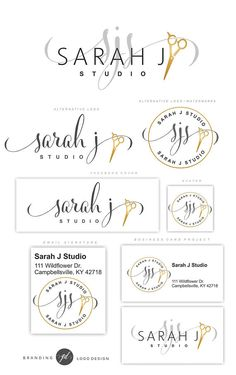 Hair Stylist logo, Salon Logo design, Scissors Logo kit, Hairdresser brand, Initials logo, Branding set, Custom package, Beauty salon Logo.This Premade Branding Kit would be perfect for Hair Salon, stylists, boutiques, make-up artists and other. AFTER PURCHASING, EACH MY PROJECT WILL BE