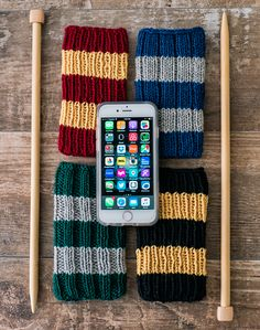 hogwarts inspired knitting pattern, free knitting pattern for iphone