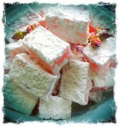 Home Made Rose Turkish Delights (Lokum), Vegan and gluten free too! This is one of my favourite recipes...