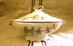 Antique  1910's  Stunning Tureen From a Toy China by angelinabella, $48.00