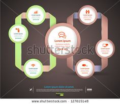 Vector  modern ribbon for business background / loop business report or plan / modern template / education template / business brochure by L...