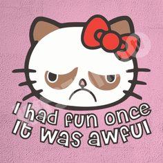 Koszulka.tv - Śmieszne koszulki z nadrukiem » Hello grumpy cat