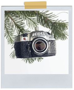 Vintage Leica camera ornament