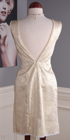 "Rags 2 Vintage - ""Rare Pearl"" Vintage 60s Gold Brocade Pearl Trim Dress, $28.00 (http://www.rags2vintage.com/rare-pearl-vintage-60s-gold-brocade-pearl-trim-dress/)"