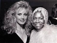 Morgan Fairchild (left) and Cicely Tyson, for the Dallas Fashion Awards, October 25, 1987.