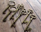 keys as place cards (can get a ton of these from antique home stores