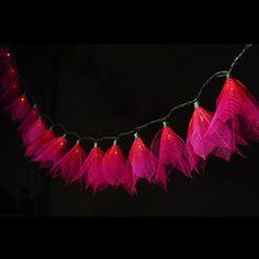 leaf flower string lights