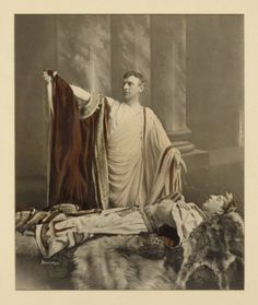 Theodore C. Marceau. Frank Peters as Mark Anthony and Louis James as Julius Caesar. Act III, Scene 2. Folger Shakespeare Library.
