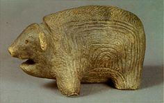 Bear of the clay. Jomon-era. BC.1,200 - BC.800.  Aomori Japan.