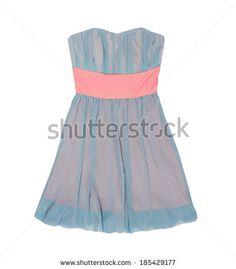 summer dress on a white background isolated