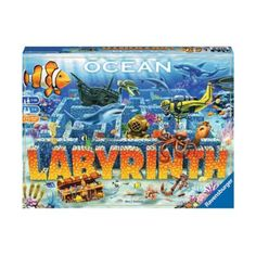 Ravensburger Ocean Labyrinth - Players dive down into a fantastic underwater world. In the coral gardens, search for sea animals, amphoras, and treasures. With the right tactics, the diving scooter helps you move along more quickly. Puzzle Games For Kids, Puzzles For Kids, Labyrinth Board Game, Coral Garden, Baby Invitations, Games Today, Picture Cards, Underwater World, Under The Sea