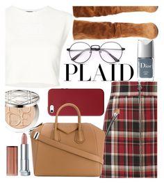 """Plaid"" by mildredsunrise on Polyvore featuring Puma, rag & bone, Christian Dior, Maybelline, Samuele Failli, Apple and Givenchy"